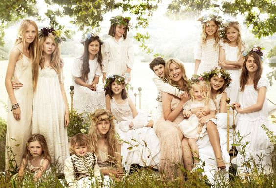 Kate Moss's English Countryside wedding. Thanks Kate, I'm copying this exactly. Including the British groom party.  Girl can dream.