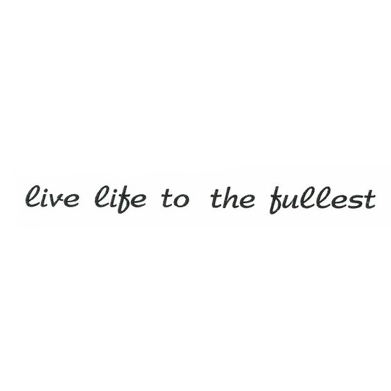 "Tampon Clear ""live life to the fullest"""