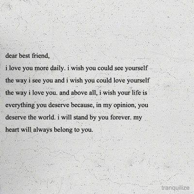 dear best friend.