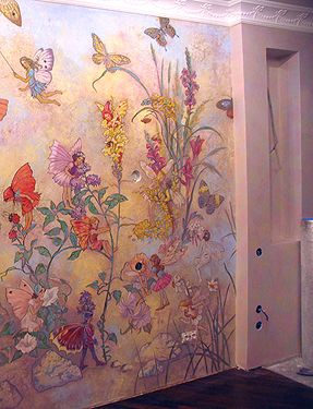 This is a painted wall mural if wall mural painting is a - Alternatives to painting walls ...