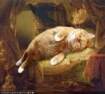Paintings made better by cats