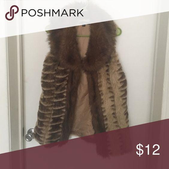 Faux vest Brown faux vest Jackets & Coats Vests