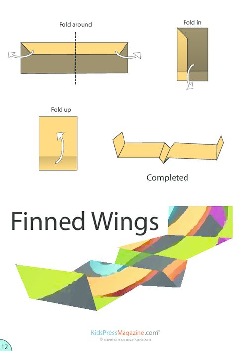 Finned Wings Airplane Origami