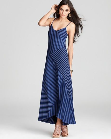 Ella Moss Dress - Waldo Striped Maxi  Great use of stripes!