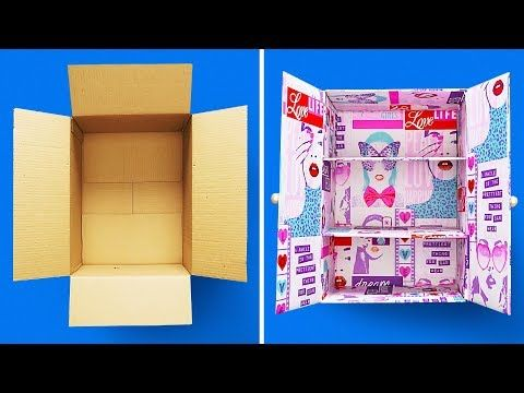 Turn Cardboard Boxes Into Household Items We See Cardboard Boxes As Temporary Containers Whether They Are F Jewelry Box Diy Cardboard Box Crafts Diy Cardboard