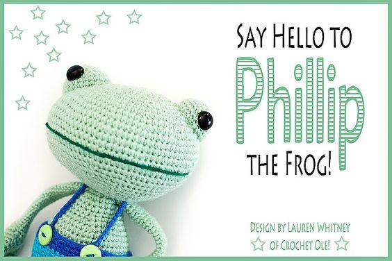 Ravelry: Phillip the Frog pattern by Lauren Whitney