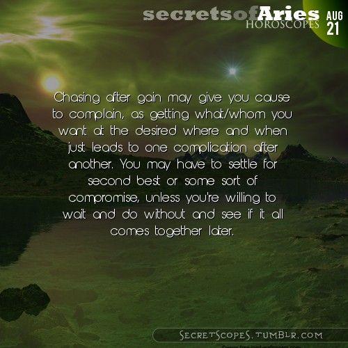 Aries Horoscope. Hey Aries, follow us for horoscopes every day!