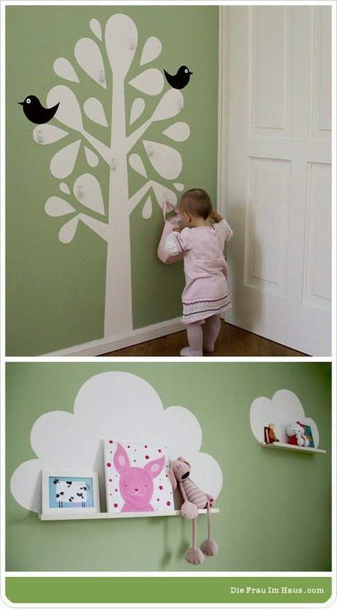 kinderzimmer kids room ideas pinterest wandschmuck kinderzimmer und einrichten wohnen. Black Bedroom Furniture Sets. Home Design Ideas