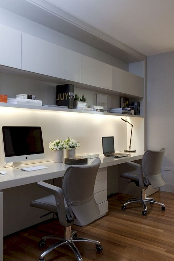 75 Stunning Home Office for Small Space #homeofficeideas #homeofficedesign #smallspaces