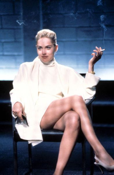 "Sharon Stone in Basic Instinct (1992) ""What are you going to arrest me for, smoking?"""