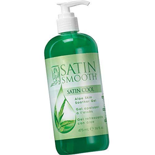 Satin Smooth Satin Cool Aloe Vera Skin Soother Gel 16 Fl Oz In 2020 Aloe Vera For Skin Skin Cleanser Products Aloe Skin Gel