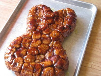 Homemade Bunny Bread | The Motherload--You could make this in any shape pan that you might have.  Heart pan, anyone?