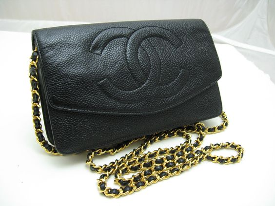 Auth. CHANEL Black Leather Wallet on Chain https://t.co/VTLUV24JpR https://t.co/b2BNx31a45