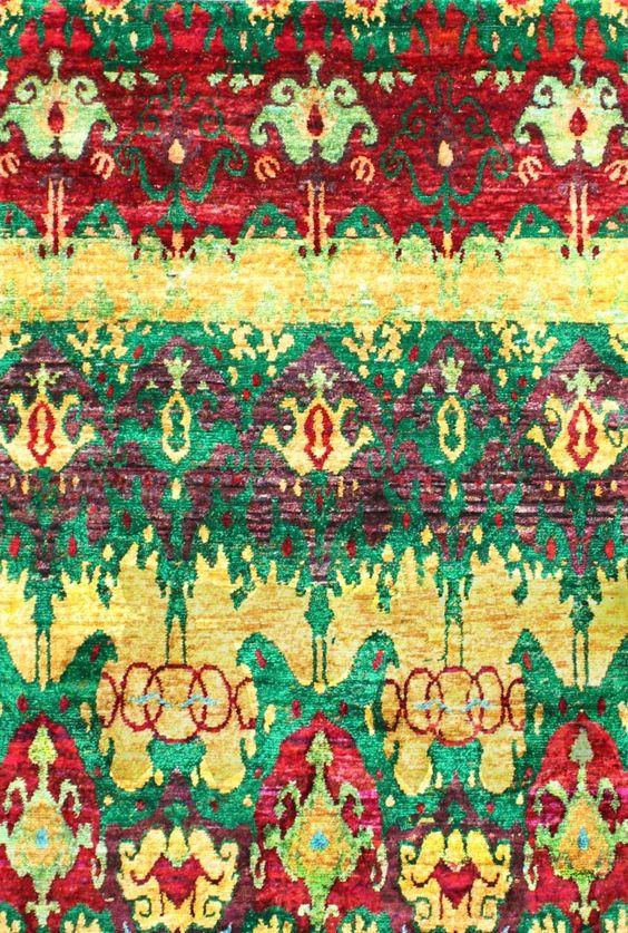 New Morden Sari Silk Multi Rug SS012