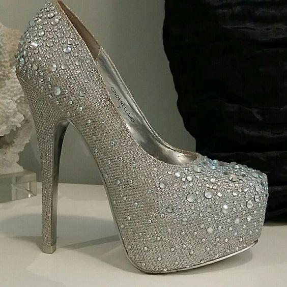Cinderella Platform Heels by Mascotte | Sparkle, Rhinestones and ...