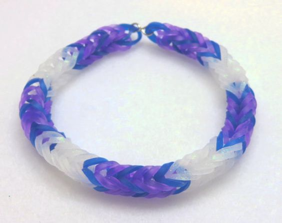 Rarity Inspired Friendship Bracelet, My Little Pony Rainbow Loom Stretchy Bracelet, My Little Pony Friendship Bracelet