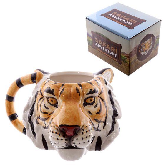 Tiger-Kopf-förmige Keramik Tasse