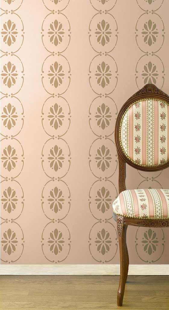 Wall Stencils Royal Design : Border stencils swedish floral wall royal
