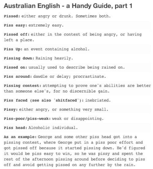 An Explanation Of Australian Slang For The Rest Of The World Funny Aussie Australian Slang Aussie Tumblr