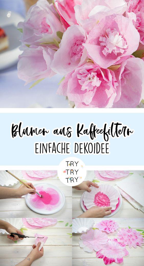 DIY Blumen aus Kaffeefiltern mit Gala von Eduscho Caffè Variation