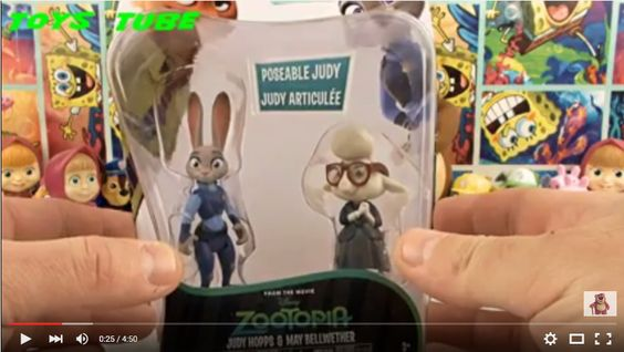 https://www.youtube.com/watch?v=C4Gs3q2OwgA Zootopia Zootopia Judy Hopps Toys Зверополис Игрушки Hello friends. This video shows the new toys. If you like subscribe to the channel. Thanks to all.