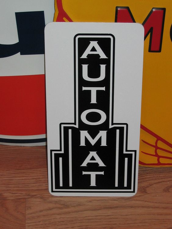 Automat Metal Sign Restaurant Bar Lunch Counter 40's 50's Vintage Style Art Deco | eBay