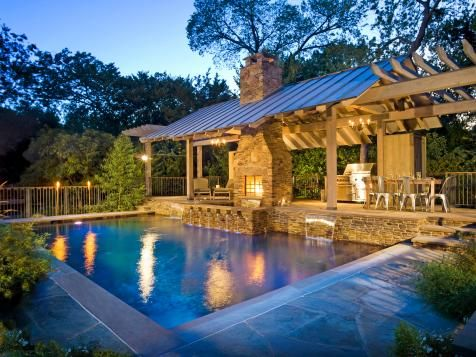 Backyard Designs With Pool And Outdoor Kitchen Simple Swimming Pool With Outdoor Kitchen Plans  Backyard Landscaping . Inspiration Design