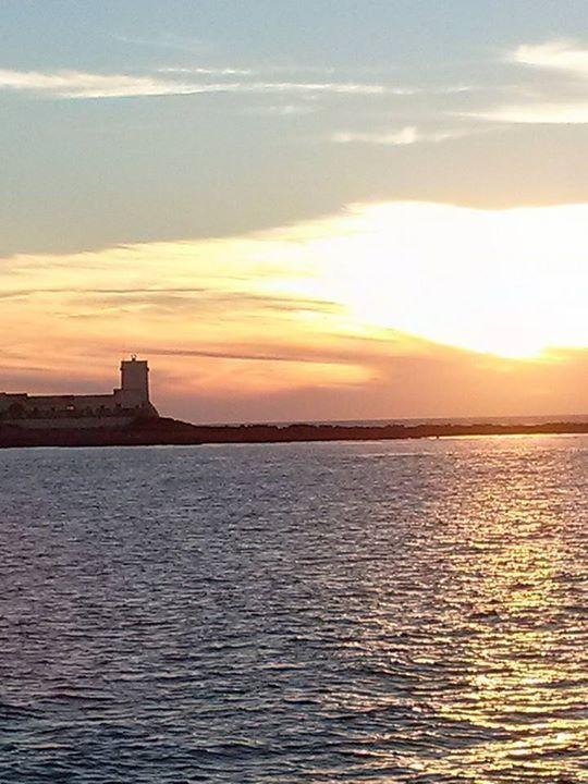 Atardecer en Chiclana / Cádiz,con el castillo de Sancti Petri al fondo!!!ESPAÑA.