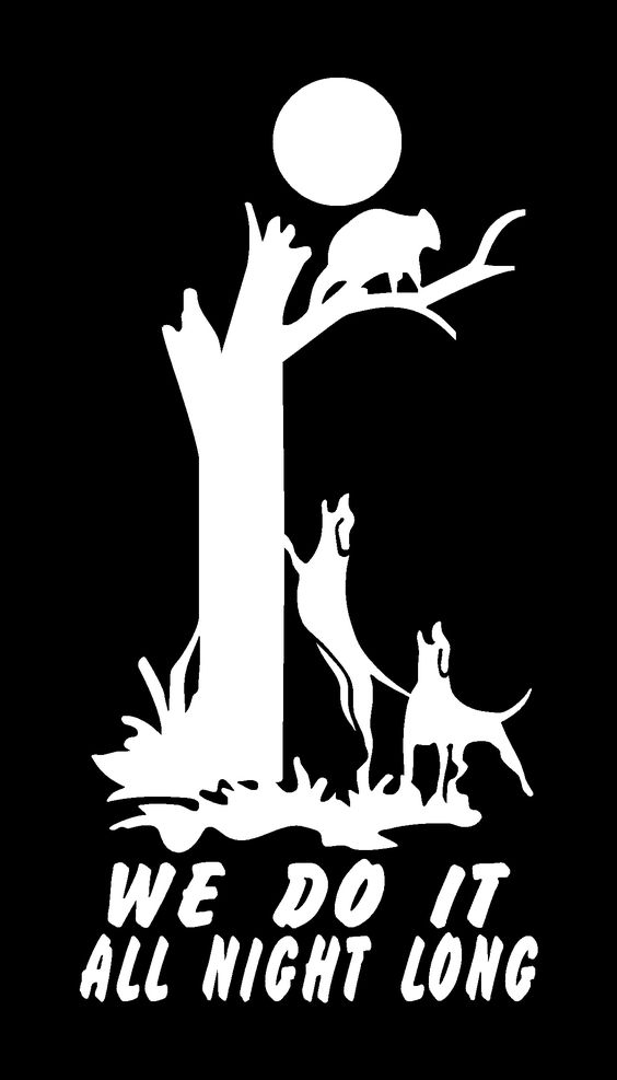We Do It All Night Long Coon Hunting Decal