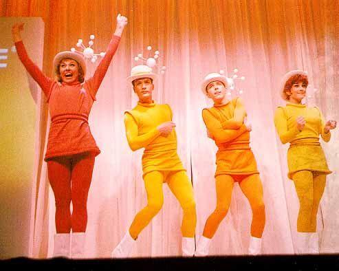 """Wonderful World of Chemistry"" musical, in the DupPont Plastics Pavilion of the 1964/65 New York World's Fair."