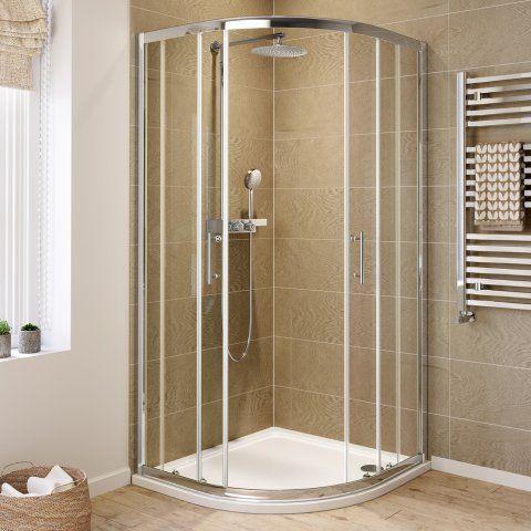 800mmx800mm Elements Quadrant Shower Enclosure 6mm Thick Glass Soak Com Shower Cubicles Shower Enclosure Quadrant Shower Enclosures