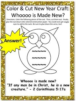 Bible lessons owl crafts and new year 39 s on pinterest for Children s church lessons crafts