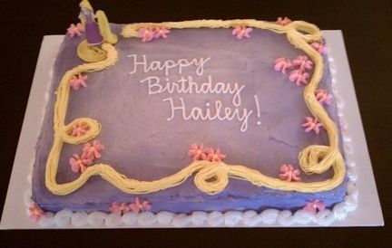 If I want to ho the easy route...Rapunzel sheet cake... This could be easy enough to replicate ... I think!