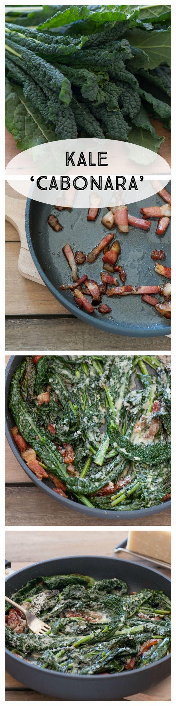 Kale Carbonara by thestonesoup: 5 Ingredients #Kale