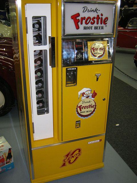 Vintage Frostie drink vending machine.