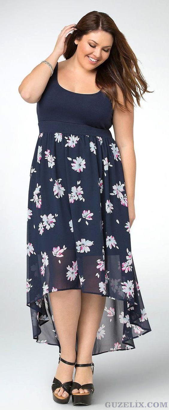 Yazlik Buyuk Beden Elbise Modelleri 2020 Moda Stilleri Maksi Elbiseler Battal Boy Kiyafetler
