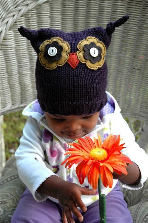 Ollie Owl Hat...one of these and a cupcake hat as well, please...now to find a cupcake hat...