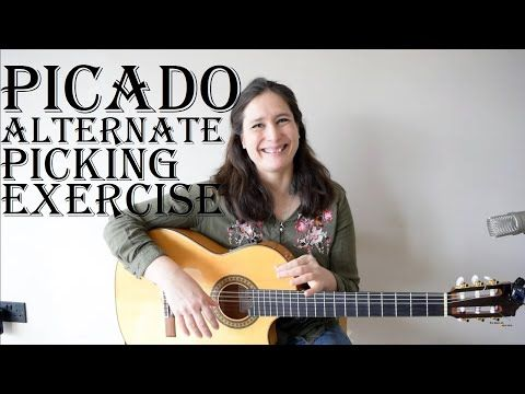Picado Alternate Picking Exercise Spanish Guitar Lesson Youtube Guitar Lessons Guitar Lesson