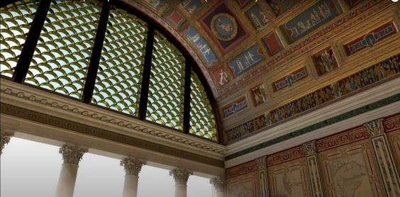 Re-creation of one of the rooms in the Domus Aurea