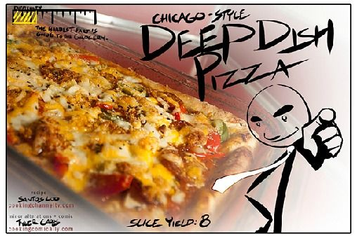 Deep Dish Pizza (Cooking Comically)
