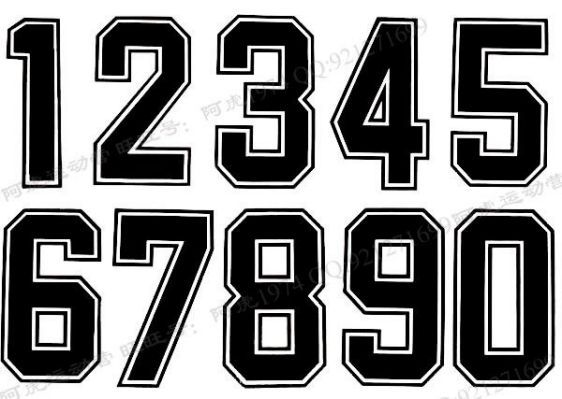 Jersey Number Font Images Football Jersey Font Number Fonts Sports Fonts