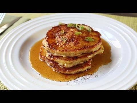 Mancakes - Bacon, Green Onion, Cheddar Corn Pancakes Recipe - Father's ...