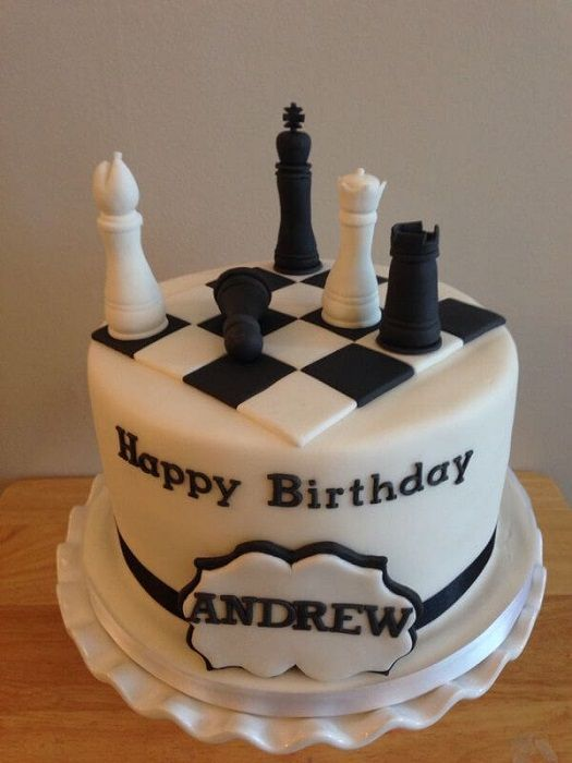 Remarkable Super Cool Chess Themed Cake Designs With Images Chess Cake Funny Birthday Cards Online Overcheapnameinfo