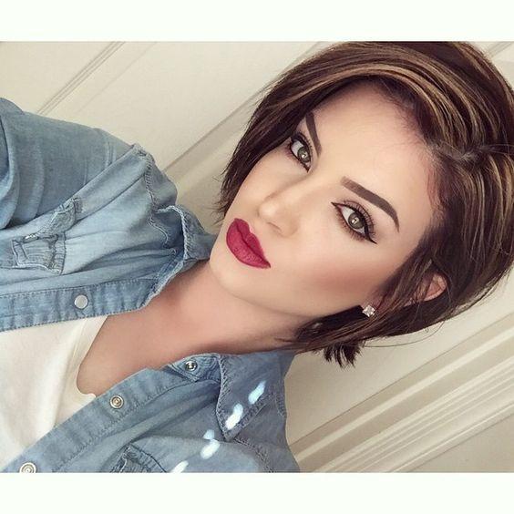 "@revlon ""iris"" Hd lipstick  brows @anastasiabeverlyhills soft brown pomade ✔️ @itcosmetics cc contour palette"