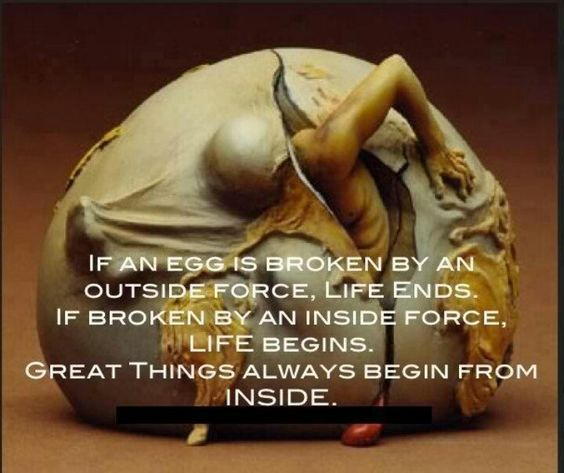 Start on the inside....