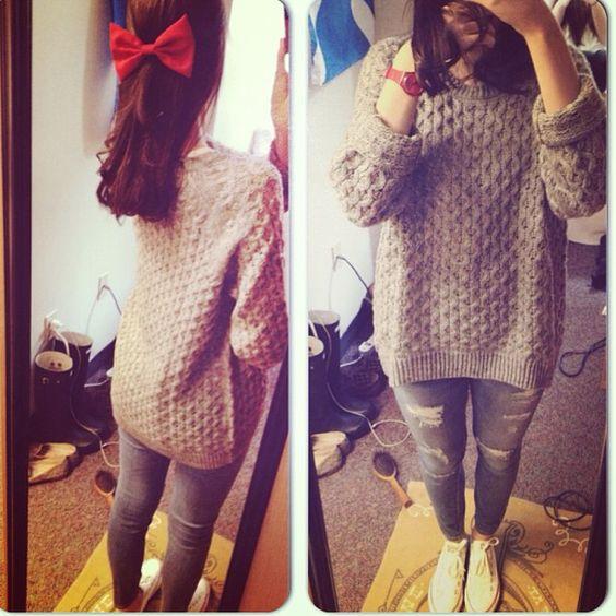 .@mafemera | OOTD #ootd #fashion #fallfashion #collegefashion #converse #allstar #rippedje...