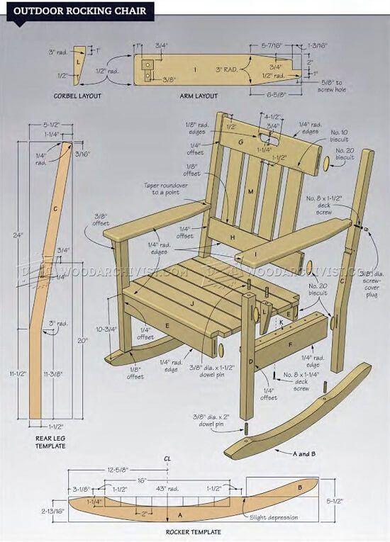 44 Simple Wooden Chair Plans By Bernardina Rocking Chair Plans Outdoor Furniture Plans Wooden Chair Plans