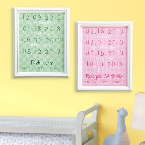 Baby Milestone Print from Personal Creations on shop.CatalogSpree.com, your personal digital mall.
