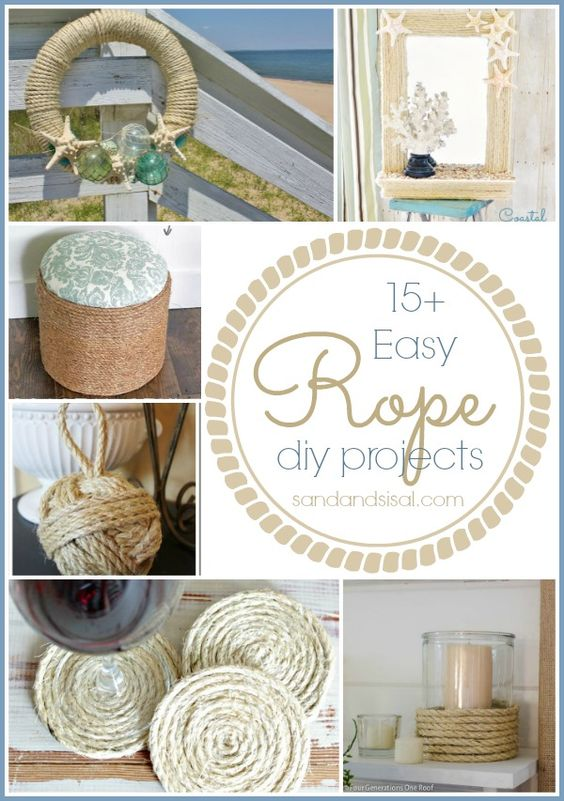 15 easy rope crafts the natural be cool and nautical for Rope projects