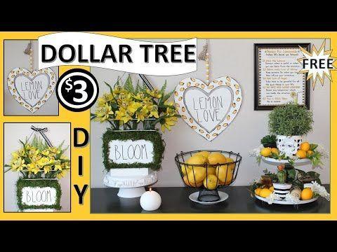 Dollar Tree Lemon Decor Diys 2019 Lemon Kitchen Decor Lemon Decor Lemon Home Decor
